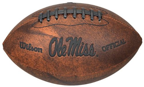NCAA Mississippi Ole Miss Rebels Vintage Throwback Football, 9-Inches (Ole Miss Football)