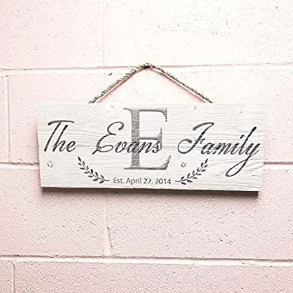 Personalized Rustic Family Wood Sign Home Decor