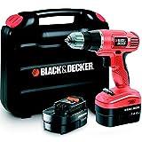 Black + Decker EPC14CABK Perceuse sans fil avec 2 batteries (14.4V)