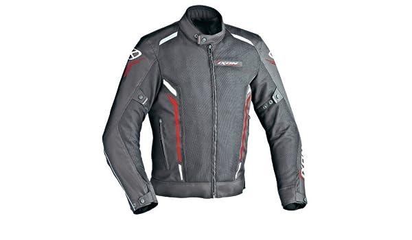 Ixon - Chaqueta Moto - Ixon Cooler Negro/Blanco/Rojo - S ...