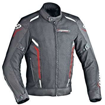 Ixon - Chaqueta Moto - Ixon Cooler Negro/Blanco/Rojo: Amazon.es: Coche y moto