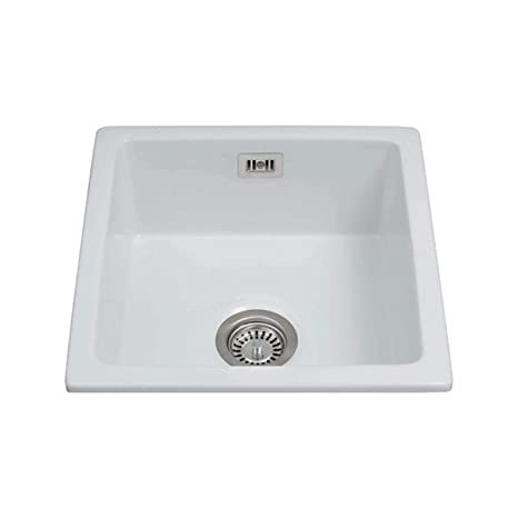Belfast per lavello da cucina, in ceramica, colore: bianco, CDA KC42 ...