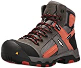 Keen Utility Men's Davenport Mid Waterproof Industrial and Construction Shoe, Gargoyle/Burnt Ochre, 11 D US