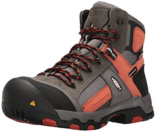Keen Utility Men's Davenport Mid Waterproof Industrial and Construction Shoe, Gargoyle/Burnt Ochre, 11 D US by KEEN Utility