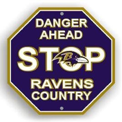 Stop Sign - NFL Football - Baltimore Ravens