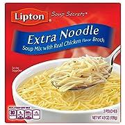 Lipton Soup Secrets Noodle Soup Mix, Extra Noodle Soup 4.9 oz (Pack Of 12)