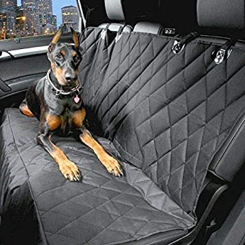 Quilted Pet Rear Seat Cover Protector For Jaguar XE XF Sport back F Pace SUV