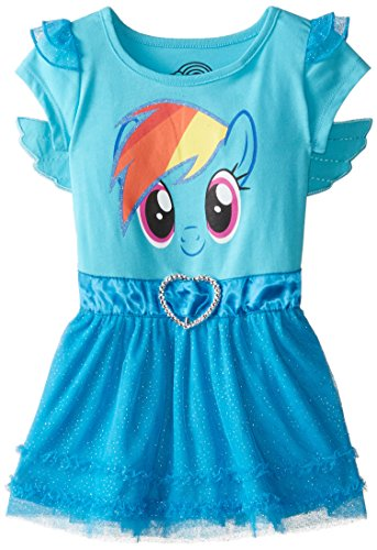 Wing Little Pony - My Little Pony Girls' Toddler Dress with Ruffles and Wings, Blue, 3T