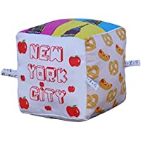 New York City Block | Organic Toy | Soft Cotton | Best Toy of the Year | Handmade in Brooklyn | Jingle Column | Rattle | Baby Blocks