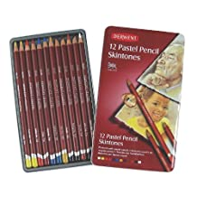 Derwent Pastel Pencils, Skintone, 4mm Core, Metal Tin, 12 Count (2300563)