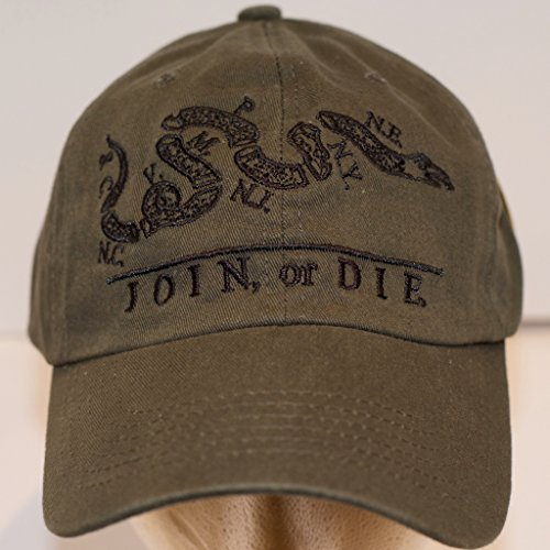 join-or-die-benjamin-franklin-tea-party-baseball-cap-olive-embroidery