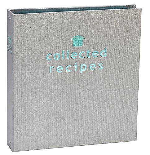 (Meadowsweet Kitchens Create Your Own Collected Recipes Cookbook - Turquoise & Gray)