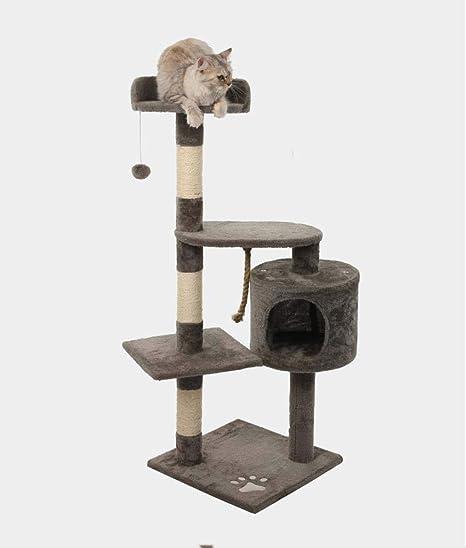 Weiwei Gato Grande de Varios Pisos de Lujo Escalada Marco Gato Madera sólida Nido Gato árbol