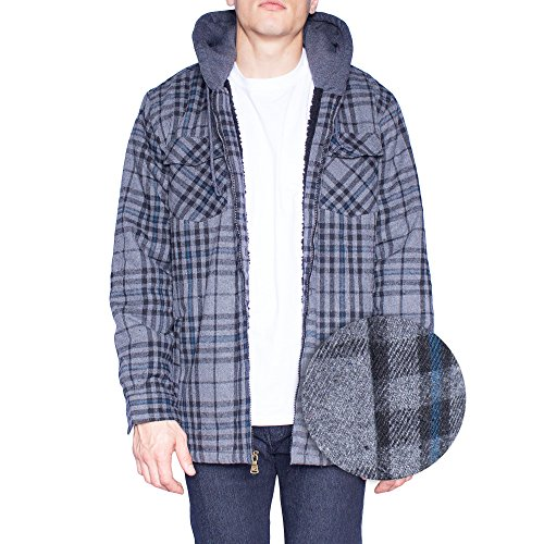 Quilted Lined Hooded Shirt Jacket - 8
