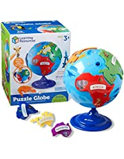 Learning Resources Puzzle Globe, 3-D Geography Puzzle, Fine Motor, 14 Pieces, Ages 3+