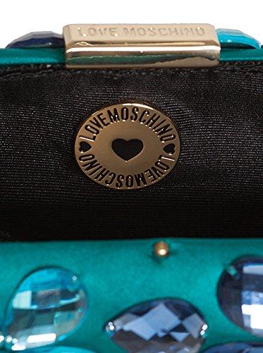 Love Moschino Moschino Azul Clutch Azul Clutch Love Moschino Love 7SqO7r