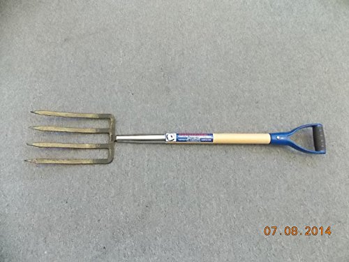 Heavy Duty Spading Fork, Forged 4 Tines.