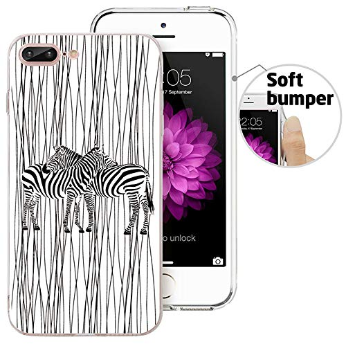- iPhone 8 Plus Case, iPhone 7 Plus Case, Doramifer Illustration Series Protective Case [Anti-Slip] [Good Grip] Aesthetic 3D Print Soft Back Cover iPhone 8 Plus/iPhone 7 Plus (Zebra)