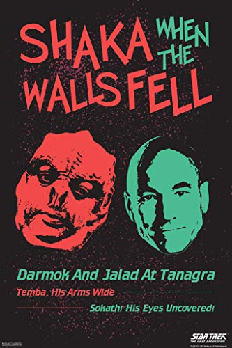 Tng Poster - Pyramid America Star Trek The Next Generation Shaka When The Walls Fell Dark Poster 12x18 Inch