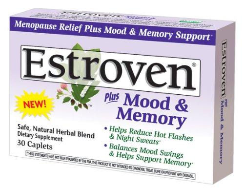 Estroven plus l'humeur et la mémoire Caplets pour la ménopause, 30-Count Boîtes (pack de 2)
