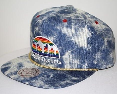af2af60480d Image Unavailable. Image not available for. Color  New Mitchell   Ness Blue  Acid Wash Denim Snapback Hat ...