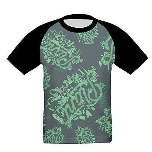 D9ys Shirt Plant Manager Boys Casual Raglan T-Shirt 3D Graphic Short Sleeved Baseball Tops