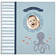 C.R. Gibson Slim Bound Photo Journal Album, By Carter's, Designer Pages, Space For Journaling, Holds 160 Photos, 80 Acid Free PVC Free Photo Safe Pages -Under The Sea