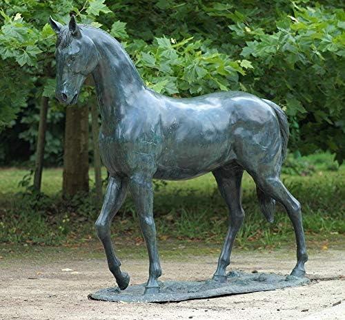 Thermobrass - Escultura de bronce para decorar el jardín, diseño de caballo: Amazon.es: Jardín