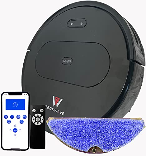TECKWAVE (TW-R10) Heavy Duty Robot Vacuum Cleaner and Mop with 2500Pa Suction Power, Gyro Navigation, Auto Recharge…