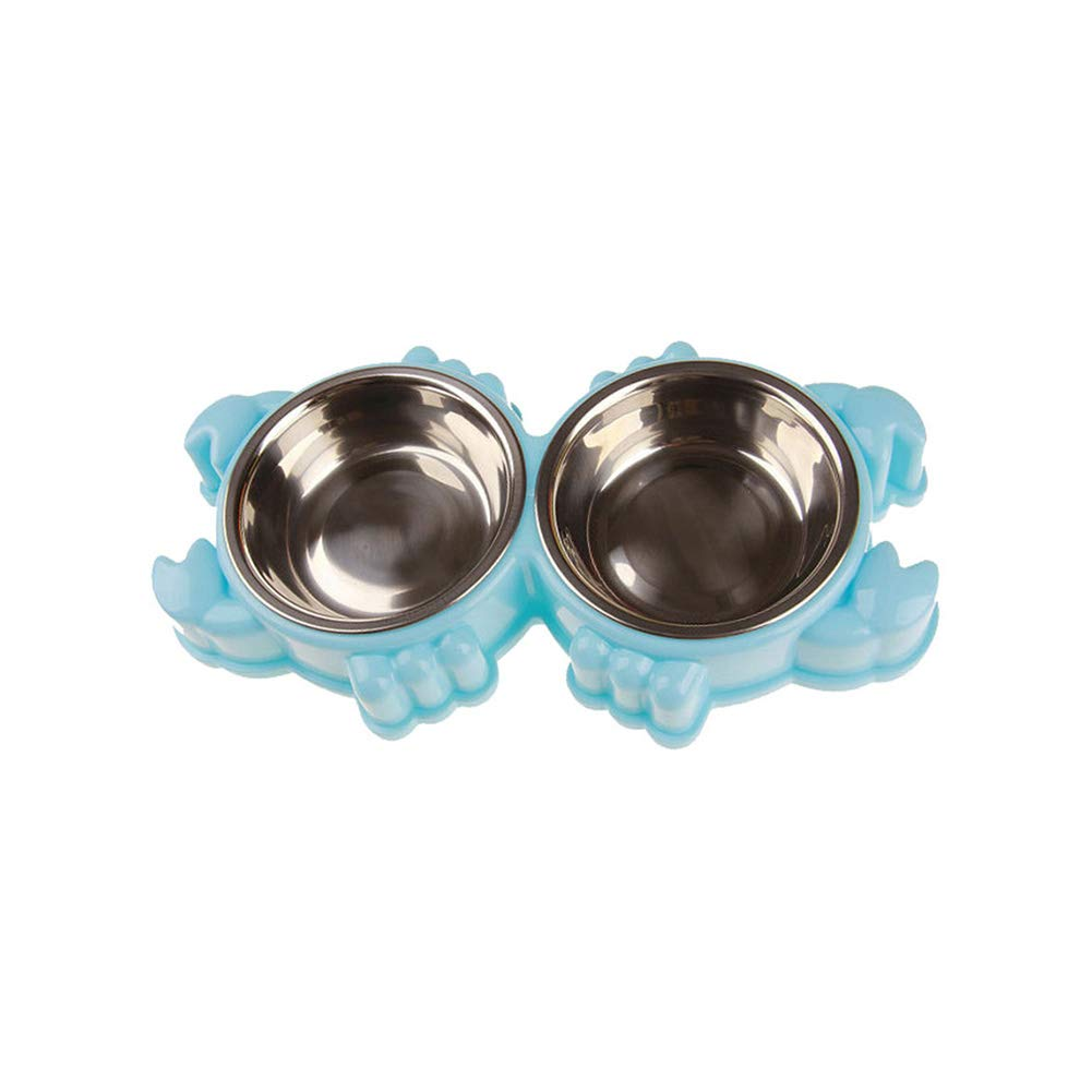 bluee Crab bluee Crab Gyswshh Bowls Pet Crab Turtle Stainless Steel Puppy Dog Cat Food Water Feeder Holder bluee Crab