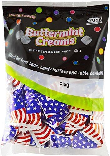 Party Sweets By Hospitality Mints Flag Buttermints, 7-Ounce Bags (Pack of 6) ()