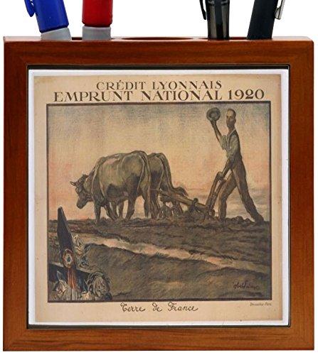 rikki-knight-vintage-posters-art-credit-lyonnais-design-5-inch-wooden-tile-pen-holder-rk-ph3716