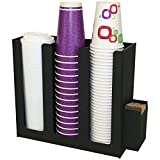 Coffee Cups or Lid Holder, 3 Columns 12''high. Non-Breakable, Now With Wall-Mount Holes. Proudly Made in the USA! and made by PPM.