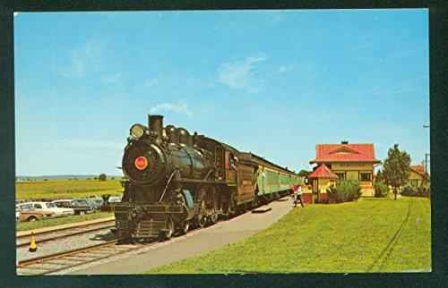 (Strasburg Railroad Wooden Passenger Coaches Train Depot Pennsylvania PA Postcard)
