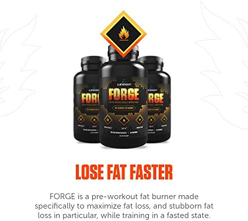 Legion Forge Fasted Fat Burner - Thermogenic Fat Burner, Target Stomach Fat and Trim Belly Fat with Yohimbe, HMB Supplement, Choline. All Natural, 45 Servings.… 6