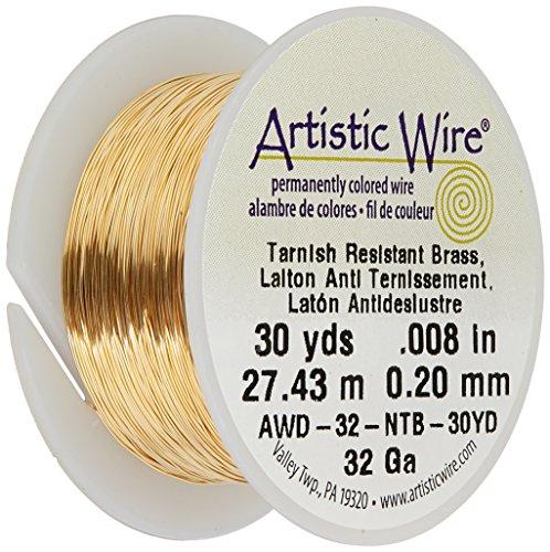 Artistic Wire 32-Gauge Non-Tarnish Brass Wire, 30-Yards ()