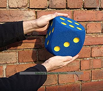 Masters Dado Gigante de Espuma - 16cm - AZUL: Amazon.es: Juguetes y juegos