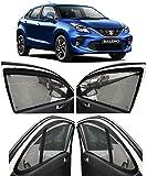 AUTOFACT Magnetic Window Sun Shades for Maruti Suzuki Baleno -Set of 4 - with Zipper