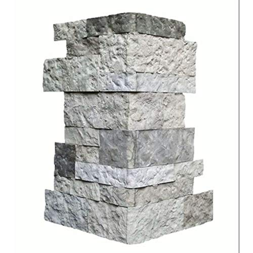 AirStone SCCES Spring Creek 6-lin ft Outside Corner/Finished End Stone Veneer Trim, Grey ()
