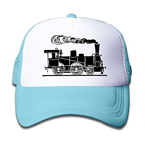 Train Style Hat - Black Mesh Baseball Caps Adjustable Toddler Hat Steam Train and Railway 3 Unisex