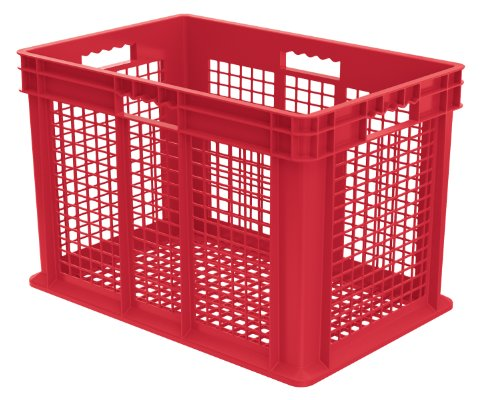 Akro-Mils 37616 24-Inch by 16-Inch by 16-Inch Straight Wall Container Plastic Tote with Mesh Sides and Mesh Base, Case of -