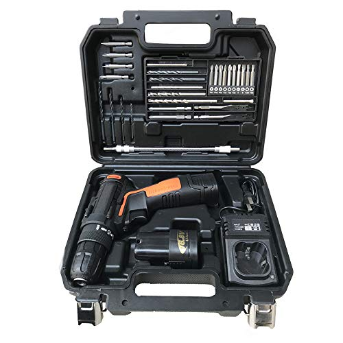 Drill Combi Hammer Cordless - Household Lithium battery drill tool kit, Rechargeable hand drill,It is a great tool for home garages and workshops
