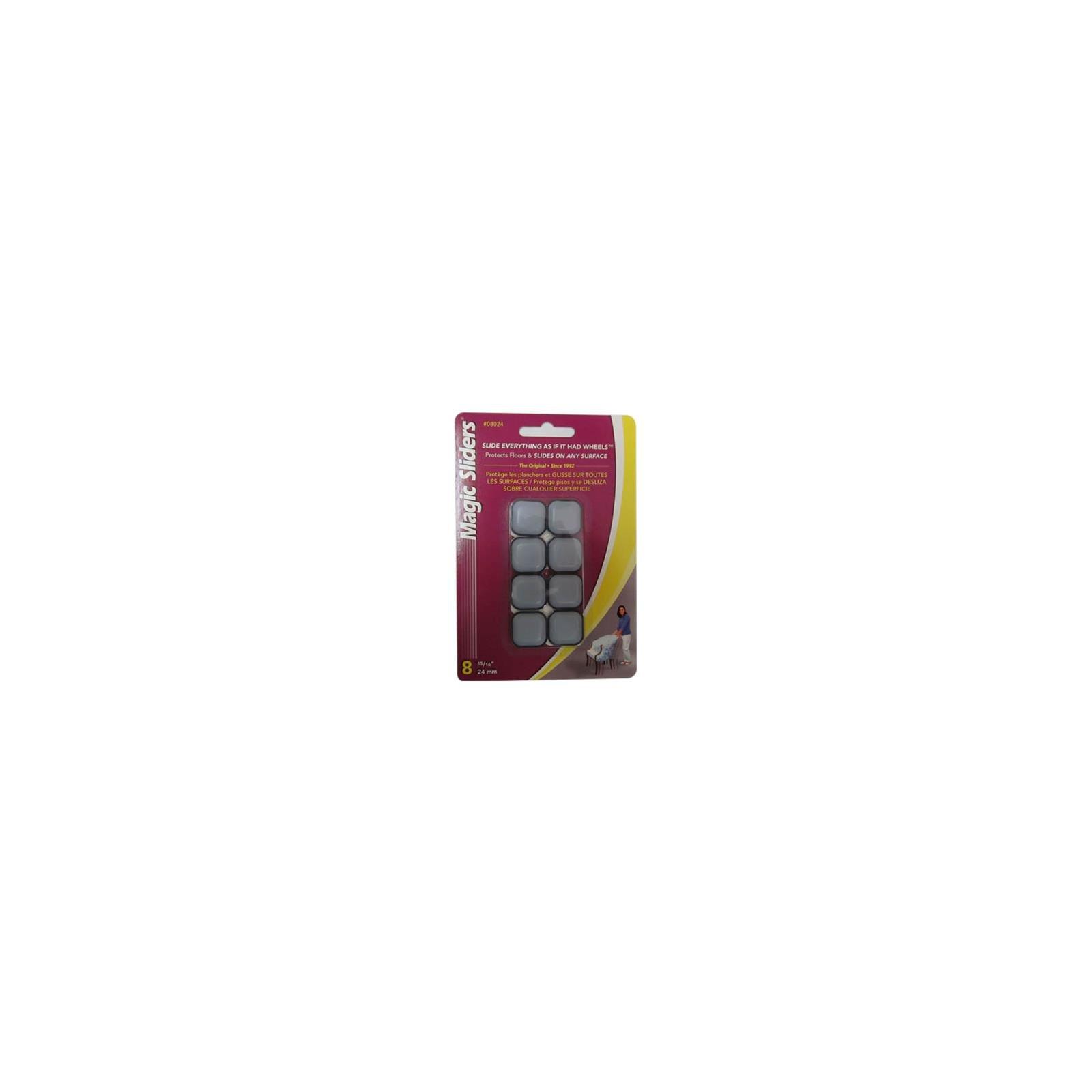 Magic Sliders L P 08024 Surface Protectors, Furniture Sliding Discs, Adhesive, 15/16-In. Square, 8-Pk. - Quantity 5