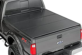 Rough Country - 45515550 - Hard Tri-Fold Tonneau Bed Cover (5.5-foot Bed) for Ford: 15-17 F150 4WD/2WD