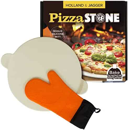 Holland & Jagger Best Pizza Baking Stone with handles for Grill, Oven & BBQ-15