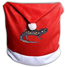 Santa Clause Red Hat Chair Back Covers For Christmas Dinner Decor Judian New Hampshire Mascot Spotted Salamander Gaze