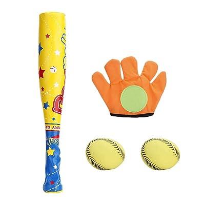 VGEBY1 El Juego de béisbol Deportivo para niños, Juego de béisbol Incluye 2 Pelotas de béisbol, 1 Bate de Pelota, 1 Guante para niños Dentro y al Aire Libre: Deportes y aire libre