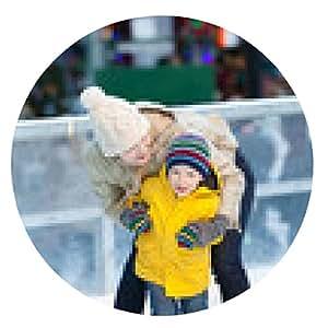 alfombrilla de ratón patinaje sobre hielo familia - ronda - 20cm