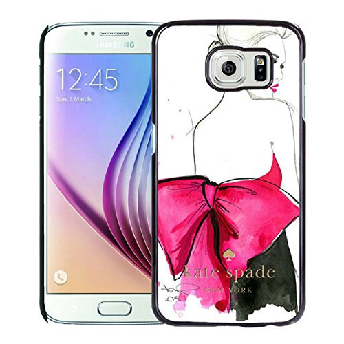 Luxurious And Nice Custom Designed Kate Spade Cover Case For Samsung Galaxy S6 Black Phone Case 204