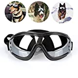 Creatlif Dog Goggles Sunglasses for Large Dogs, UV Protection Adjustable Pet Sunglasses Eye Wear Protection Waterproof
